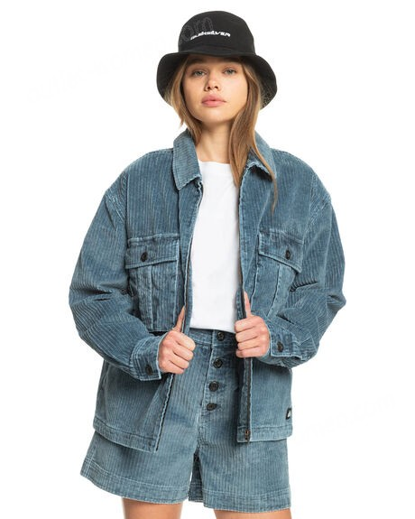 QUIKSILVER-Womens Stunt Land Organic Military Style Jacket on sale - -0