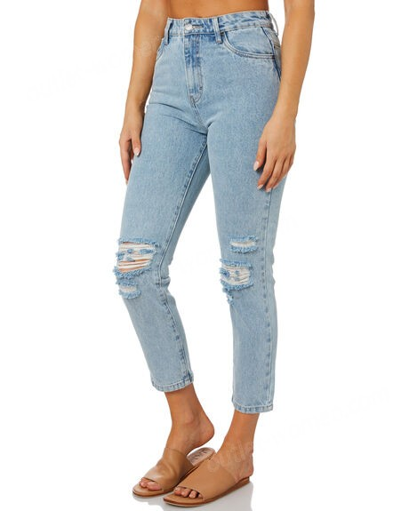 RUSTY-High Rise Straight Rip Jean on sale - -1